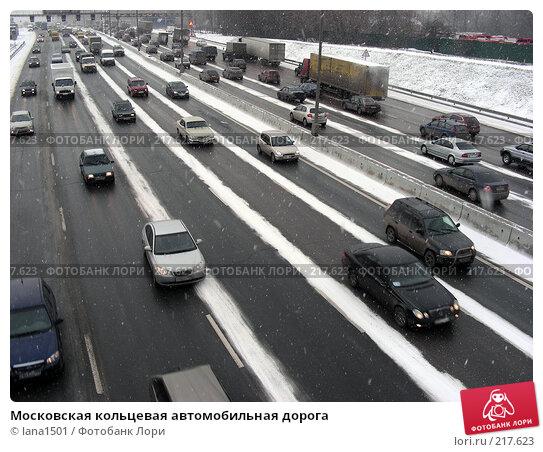 Купить «Московская кольцевая автомобильная дорога», эксклюзивное фото № 217623, снято 5 марта 2008 г. (c) lana1501 / Фотобанк Лори
