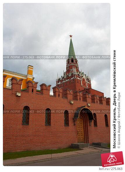 Московский Кремль. Дверь в Кремлёвской стене, фото № 275063, снято 14 апреля 2007 г. (c) Шахов Андрей / Фотобанк Лори