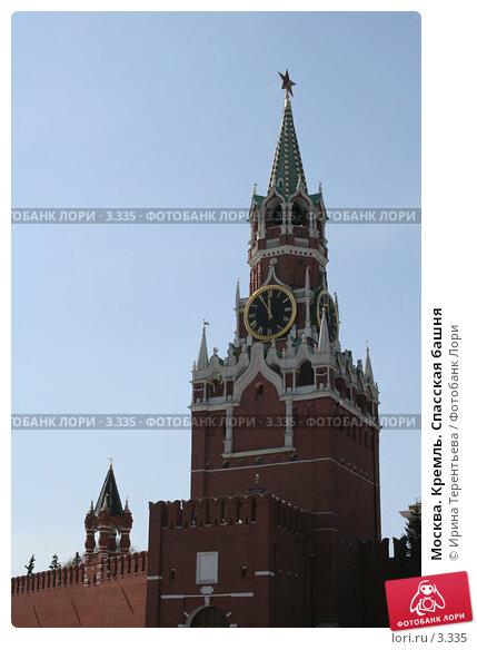 Москва. Кремль. Спасская башня, эксклюзивное фото № 3335, снято 30 апреля 2006 г. (c) Ирина Терентьева / Фотобанк Лори