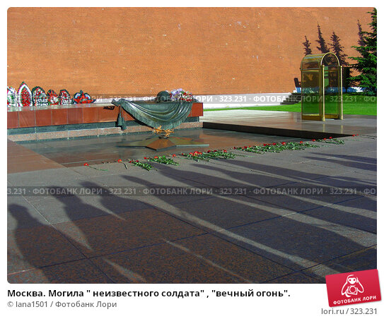 """Москва. Могила """" неизвестного солдата"""" , """"вечный огонь""""., эксклюзивное фото № 323231, снято 8 июня 2008 г. (c) lana1501 / Фотобанк Лори"""