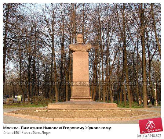 Купить «Москва. Памятник Николаю Егоровичу Жуковскому», эксклюзивное фото № 248827, снято 10 апреля 2008 г. (c) lana1501 / Фотобанк Лори