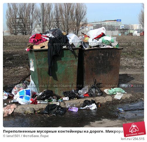 Москва. Помойка. Контейнеры с мусором, эксклюзивное фото № 256515, снято 31 марта 2008 г. (c) lana1501 / Фотобанк Лори