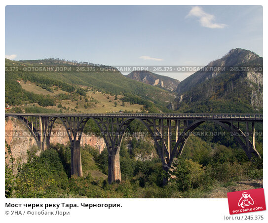 Мост через реку Тара. Черногория., фото № 245375, снято 18 сентября 2007 г. (c) УНА / Фотобанк Лори