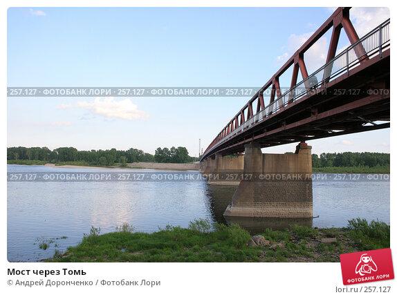 Купить «Мост через Томь», фото № 257127, снято 16 июня 2005 г. (c) Андрей Доронченко / Фотобанк Лори