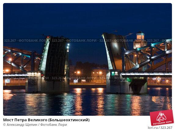 Мост Петра Великого (Большеохтинский), эксклюзивное фото № 323267, снято 14 июня 2008 г. (c) Александр Щепин / Фотобанк Лори