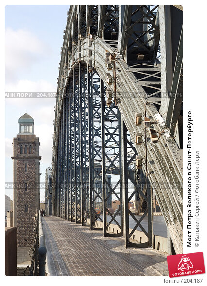 Мост Петра Великого в Санкт-Петербурге, фото № 204187, снято 16 февраля 2008 г. (c) Катыкин Сергей / Фотобанк Лори