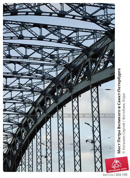 Мост Петра Великого в Санкт-Петербурге, фото № 204199, снято 16 февраля 2008 г. (c) Катыкин Сергей / Фотобанк Лори