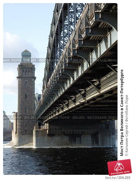 Купить «Мост Петра Великого в Санкт-Петербурге», фото № 204203, снято 16 февраля 2008 г. (c) Катыкин Сергей / Фотобанк Лори