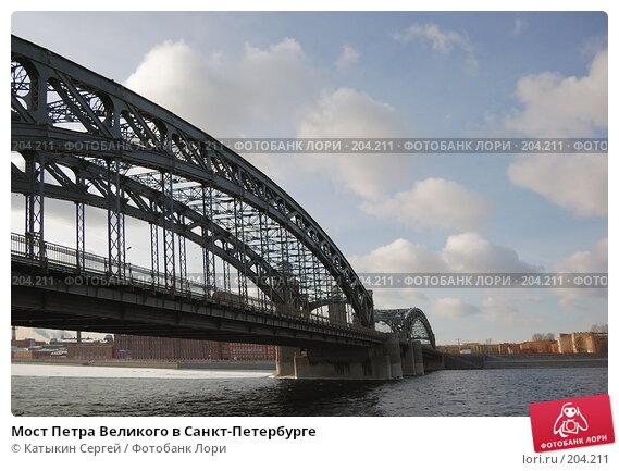 Купить «Мост Петра Великого в Санкт-Петербурге», фото № 204211, снято 16 февраля 2008 г. (c) Катыкин Сергей / Фотобанк Лори