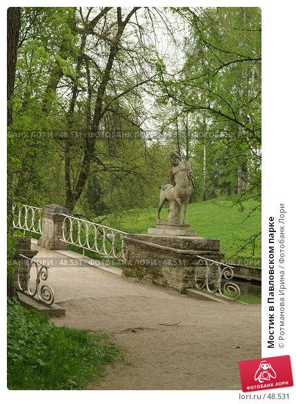 Мостик в Павловском парке, фото № 48531, снято 20 мая 2007 г. (c) Ротманова Ирина / Фотобанк Лори