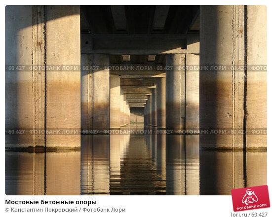 Мостовые бетонные опоры, фото № 60427, снято 5 августа 2006 г. (c) Константин Покровский / Фотобанк Лори