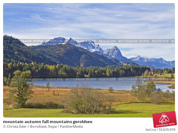 mountain autumn fall mountains geroldsee. Стоковое фото, фотограф Christa Eder / PantherMedia / Фотобанк Лори