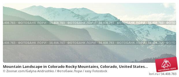 Mountain Landscape in Colorado Rocky Mountains, Colorado, United States... Стоковое фото, фотограф Zoonar.com/Galyna Andrushko / easy Fotostock / Фотобанк Лори