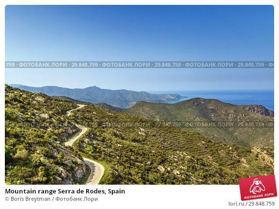 Mountain range Serra de Rodes, Spain (2018 год). Стоковое фото, фотограф Boris Breytman / Фотобанк Лори