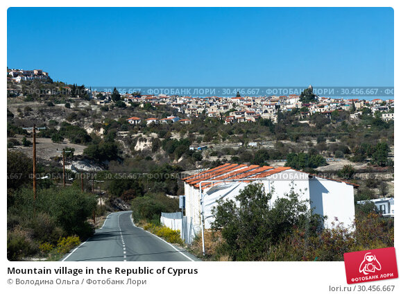 Mountain village in the Republic of Cyprus (2018 год). Стоковое фото, фотограф Володина Ольга / Фотобанк Лори