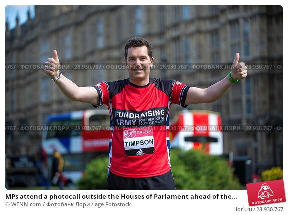 Купить «MPs attend a photocall outside the Houses of Parlament ahead of the 2017 Virgin Money London Marathon, London Featuring: Edward Timpson Where: London, United Kingdom When: 18 Apr 2017 Credit: WENN.com», фото № 28930767, снято 18 апреля 2017 г. (c) age Fotostock / Фотобанк Лори