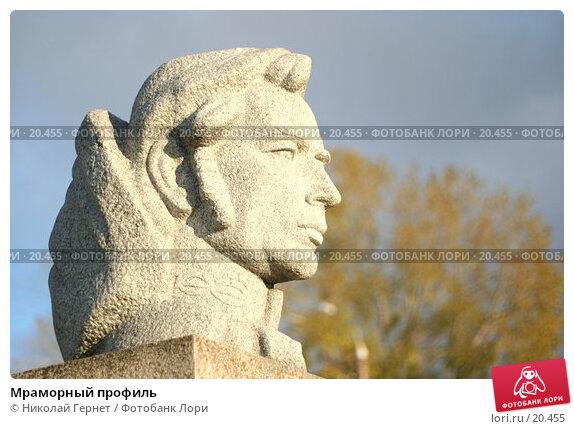 Мраморный профиль, фото № 20455, снято 13 октября 2006 г. (c) Николай Гернет / Фотобанк Лори