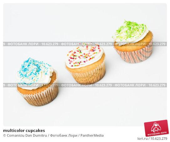 multicolor cupcakes. Стоковое фото, фотограф Comaniciu Dan Dumitru / PantherMedia / Фотобанк Лори