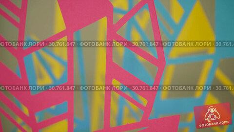 Купить «Multicolored patterns in texture», видеоролик № 30761847, снято 2 мая 2019 г. (c) Ekaterina Demidova / Фотобанк Лори