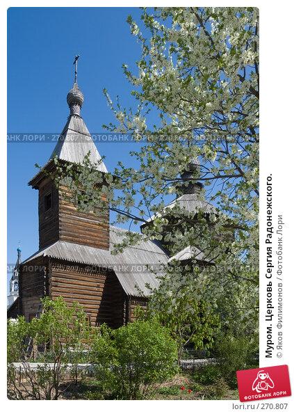 Муром. Церковь Сергия Радонежского., фото № 270807, снято 2 мая 2008 г. (c) Яков Филимонов / Фотобанк Лори