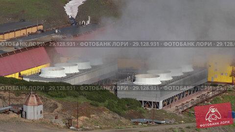 Мутновская геотермальная электростанция на Камчатке (2018 год). Редакционное видео, видеограф А. А. Пирагис / Фотобанк Лори