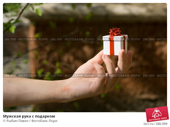 Мужская рука с подарком, фото № 286999, снято 13 мая 2008 г. (c) Рыбин Павел / Фотобанк Лори