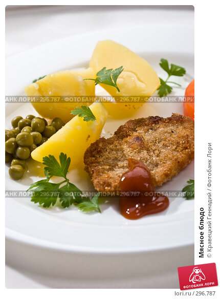 Купить «Мясное блюдо», фото № 296787, снято 18 сентября 2005 г. (c) Кравецкий Геннадий / Фотобанк Лори