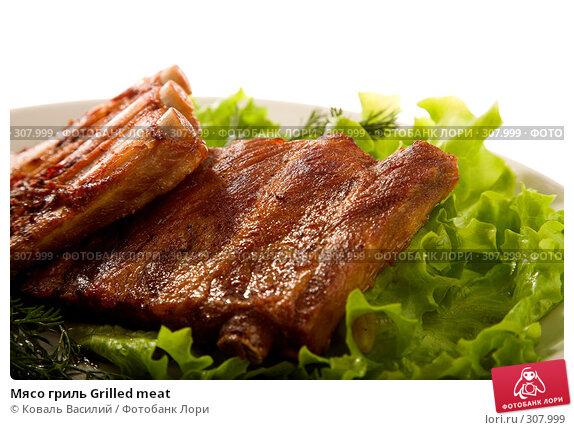 Мясо гриль Grilled meat, фото № 307999, снято 21 мая 2008 г. (c) Коваль Василий / Фотобанк Лори