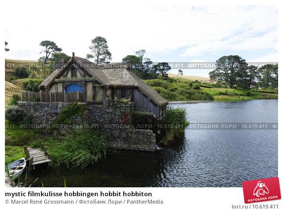 mystic filmkulisse hobbingen hobbit hobbiton. Стоковое фото, фотограф Marcel René Grossmann / PantherMedia / Фотобанк Лори