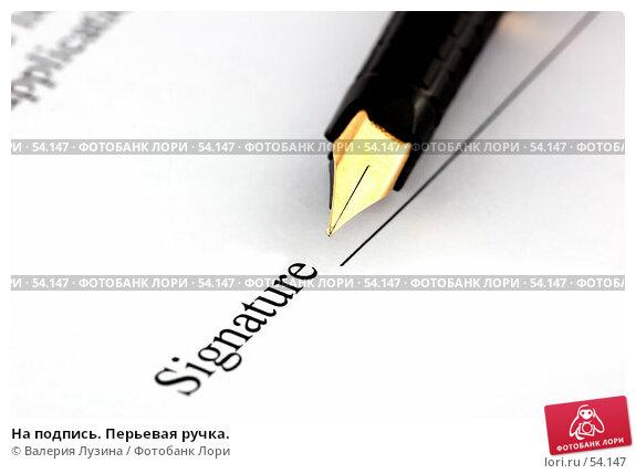 На подпись. Перьевая ручка., фото № 54147, снято 30 мая 2007 г. (c) Валерия Потапова / Фотобанк Лори