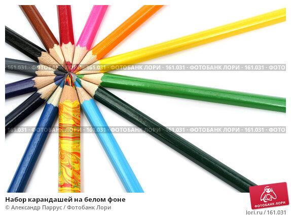 Набор карандашей на белом фоне, фото № 161031, снято 9 октября 2006 г. (c) Александр Паррус / Фотобанк Лори
