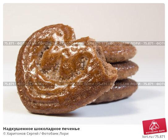 Надкушенное шоколадное печенье, фото № 75871, снято 25 августа 2007 г. (c) Харитонов Сергей / Фотобанк Лори