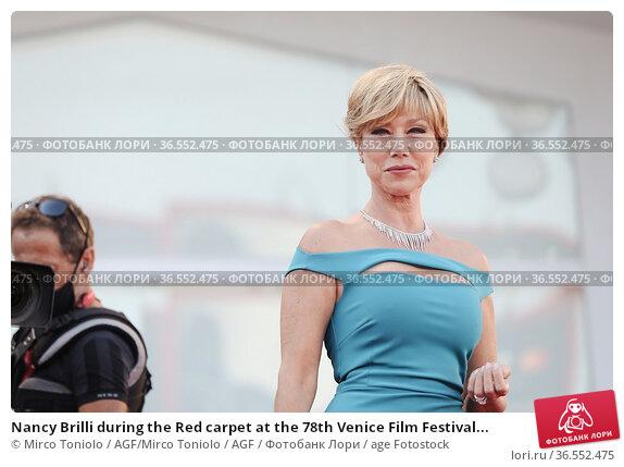 Nancy Brilli during the Red carpet at the 78th Venice Film Festival... Редакционное фото, фотограф Mirco Toniolo / AGF/Mirco Toniolo / AGF / age Fotostock / Фотобанк Лори