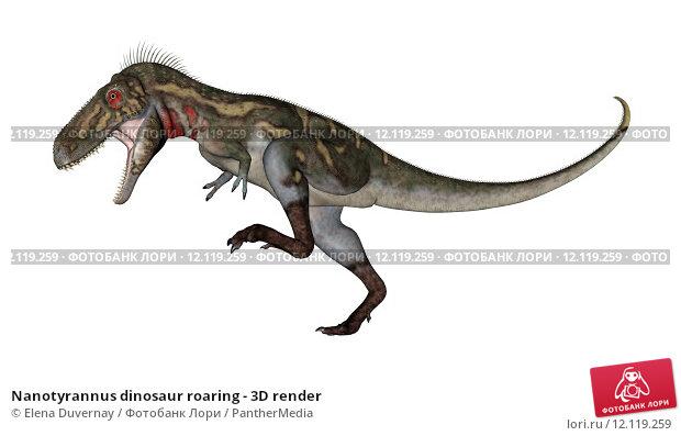 Купить «Nanotyrannus dinosaur roaring - 3D render», иллюстрация № 12119259 (c) PantherMedia / Фотобанк Лори
