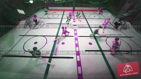 Купить «Настольный хоккей в супермаркете», видеоролик № 3738135, снято 18 августа 2011 г. (c) Losevsky Pavel / Фотобанк Лори