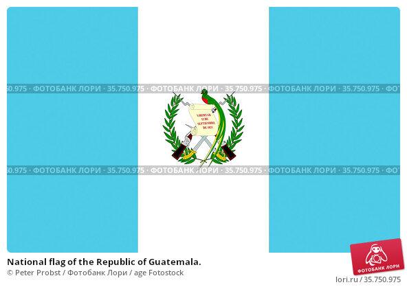 National flag of the Republic of Guatemala. (2018 год). Редакционное фото, фотограф Peter Probst / age Fotostock / Фотобанк Лори