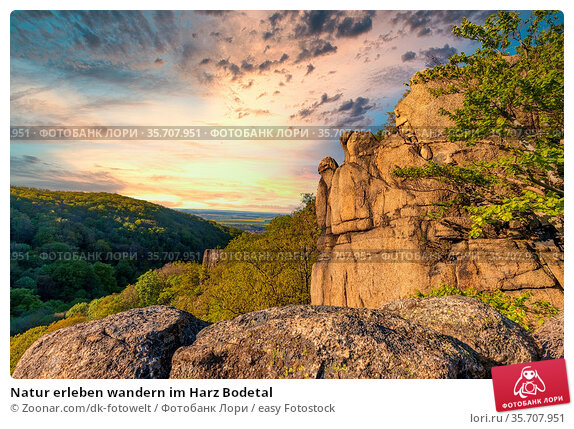 Natur erleben wandern im Harz Bodetal. Стоковое фото, фотограф Zoonar.com/dk-fotowelt / easy Fotostock / Фотобанк Лори