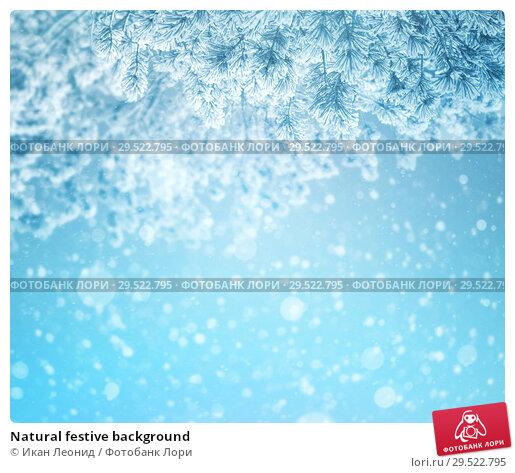 Купить «Natural festive background», фото № 29522795, снято 1 декабря 2018 г. (c) Икан Леонид / Фотобанк Лори
