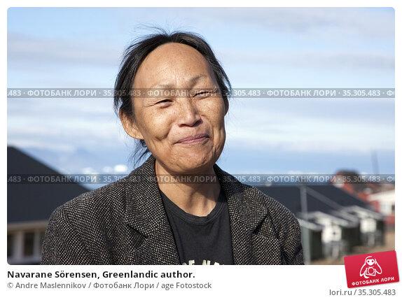 Navarane Sörensen, Greenlandic author. (2009 год). Редакционное фото, фотограф Andre Maslennikov / age Fotostock / Фотобанк Лори
