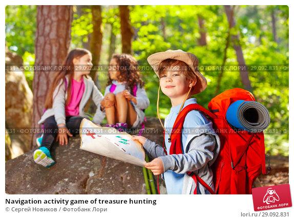 Navigation activity game of treasure hunting. Стоковое фото, фотограф Сергей Новиков / Фотобанк Лори