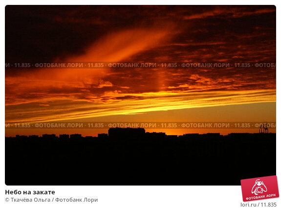 Небо на закате, фото № 11835, снято 28 октября 2006 г. (c) Ткачёва Ольга / Фотобанк Лори