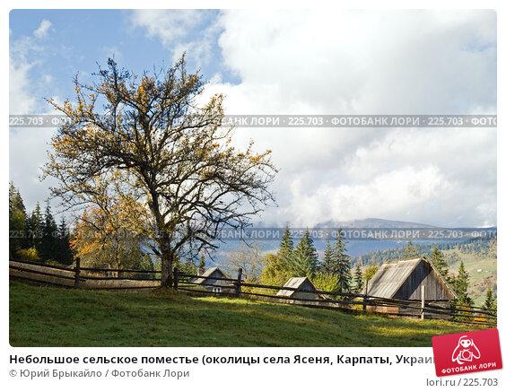 Небольшое сельское поместье (околицы села Ясеня, Карпаты, Украина), фото № 225703, снято 29 сентября 2007 г. (c) Юрий Брыкайло / Фотобанк Лори