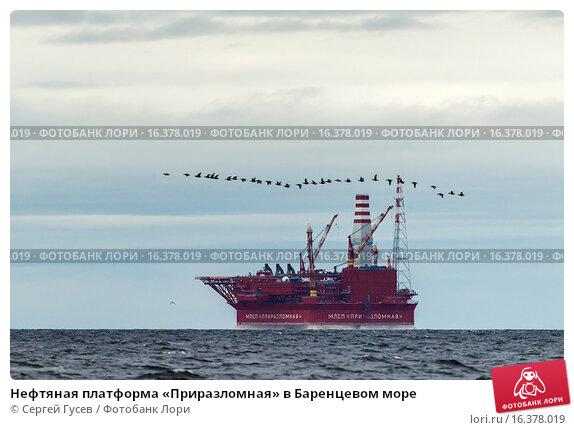 Купить «Нефтяная платформа «Приразломная» в Баренцевом море», фото № 16378019, снято 23 августа 2013 г. (c) Сергей Гусев / Фотобанк Лори