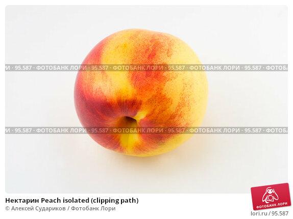 Нектарин Peach isolated (clipping path), фото № 95587, снято 7 октября 2007 г. (c) Алексей Судариков / Фотобанк Лори