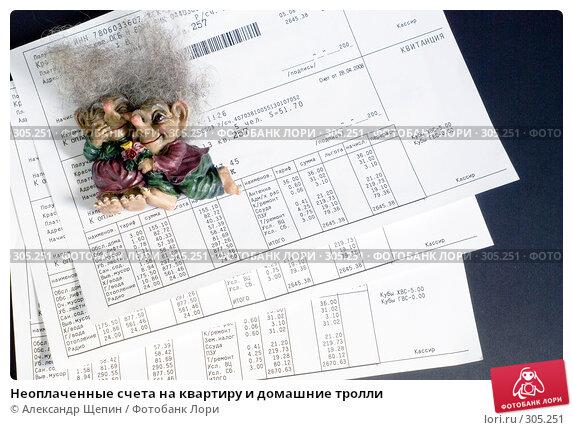 Неоплаченные счета на квартиру и домашние тролли, эксклюзивное фото № 305251, снято 31 мая 2008 г. (c) Александр Щепин / Фотобанк Лори