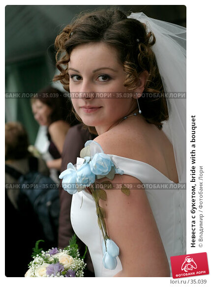Невеста с букетом, bride with a bouquet, фото № 35039, снято 16 сентября 2005 г. (c) Владимир / Фотобанк Лори