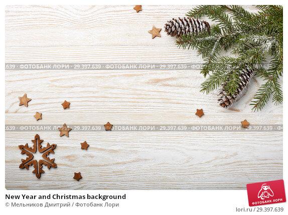Купить «New Year and Christmas background», фото № 29397639, снято 4 ноября 2018 г. (c) Мельников Дмитрий / Фотобанк Лори