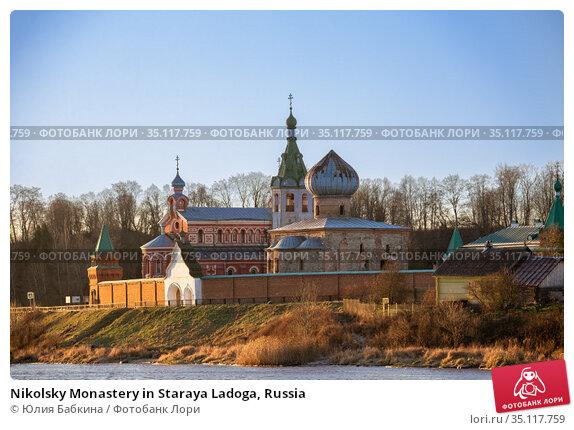 Nikolsky Monastery in Staraya Ladoga, Russia. Стоковое фото, фотограф Юлия Бабкина / Фотобанк Лори