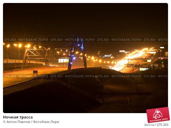 Ночная трасса, фото № 275303, снято 24 апреля 2008 г. (c) Антон Павлов / Фотобанк Лори