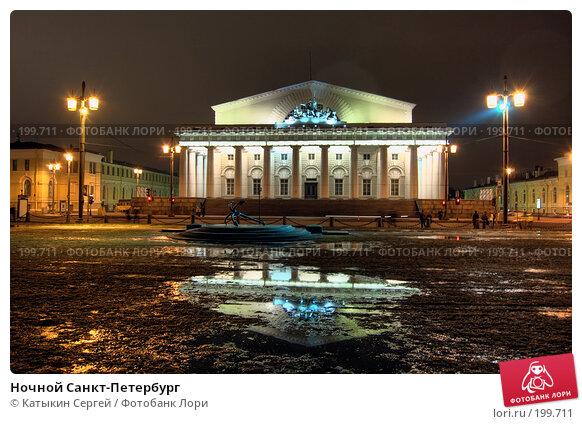 Ночной Санкт-Петербург, фото № 199711, снято 21 января 2017 г. (c) Катыкин Сергей / Фотобанк Лори
